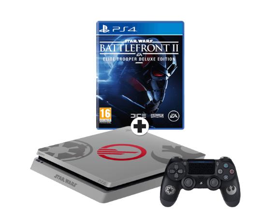 PS4 (Slim) 1TB Star Wars Edition + Star Wars Battlefront II voor €288