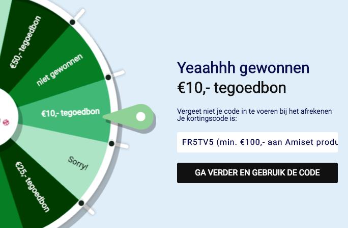 €10 korting op een minimale besteding van €100