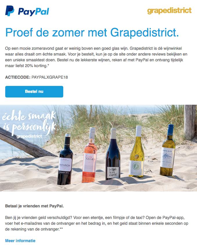 20% korting op het online assortiment wijnen