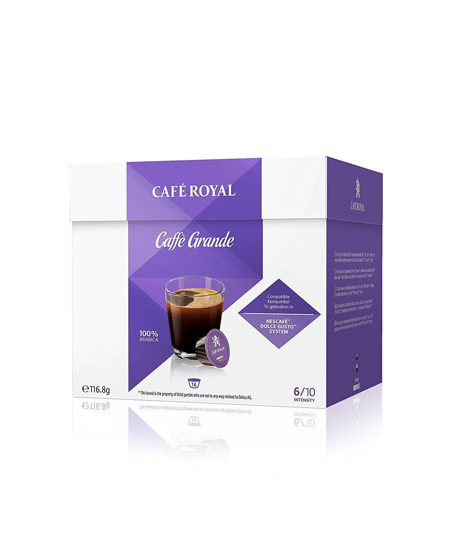 3 Dozen Café Royal Grande koffie voor Dolce Gusto voor €9,97