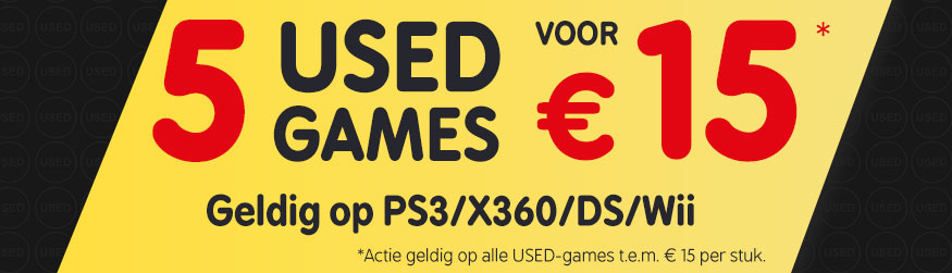 5 USED-games voor €15