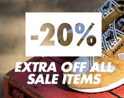 20% korting op alles bij sneakerbaas