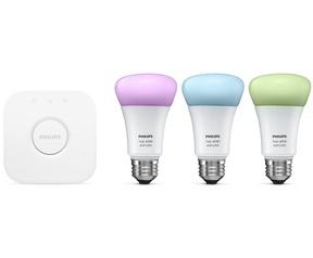 Philips Hue Wit en Kleur Ambiance Bridge en A60 LED Lamp (10W) Beginner Uitrusting voor €119,97