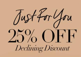 25% korting op vele items