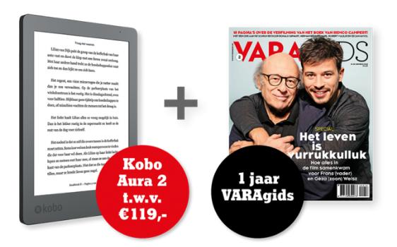 1 jaar de VARAgids + Kobo Aura Edition 2 e-reader voor €99,95