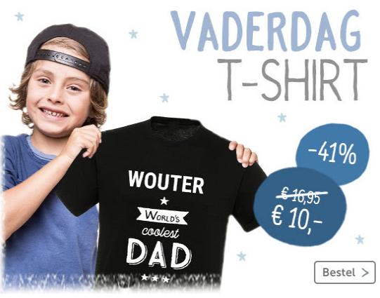 Tijdelijk T-shirt voor vaderdag voor 10 euro