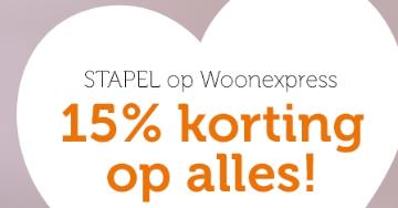 Sale bij Woonexpress met 15% korting