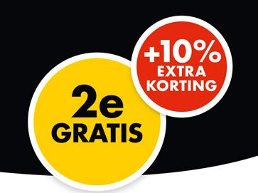 2 matrassen voor de prijs van 1 en 10% extra korting
