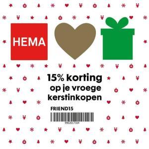 15% korting Hema dmv code