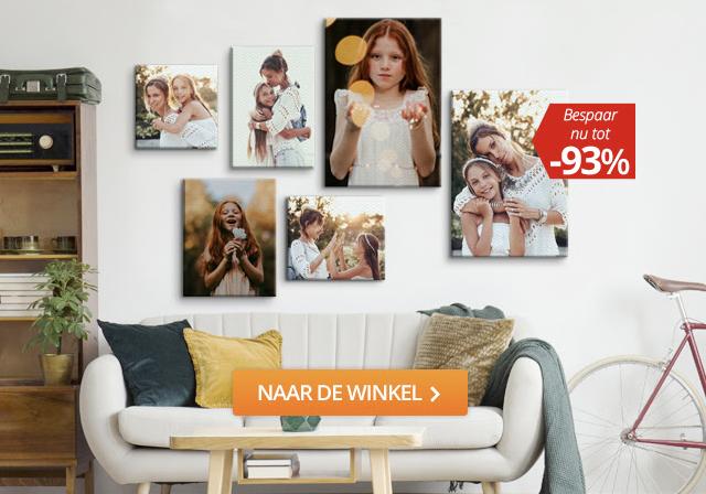 Telefoonhoesjes, Muismatten, Fotopuzzels en Foto op Canvas tot 93% korting