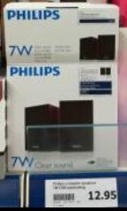 Philips 7W pc speakers voor €12,95