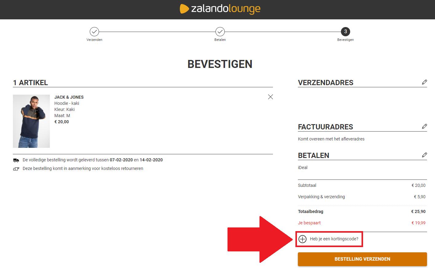 Zalando lounge kortingscode ➤ 75% korting + €10 extra