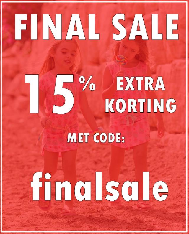 Finale sale tot 15% korting