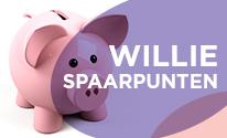 Extra korting door Willie spaarpuntensysteem