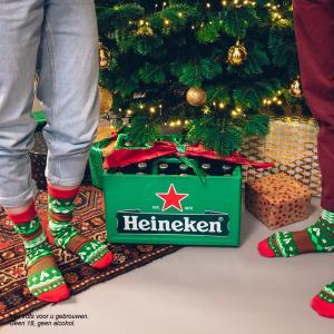 Heineken kerstsokken Gratis bij krat of 6 pack 0 0 Heineken