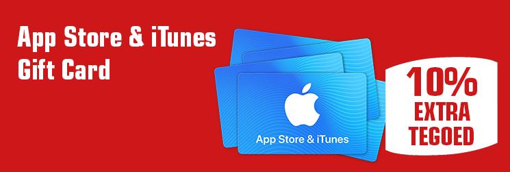 10% Itunes tegoed bij aankoop van iTunes kaarten