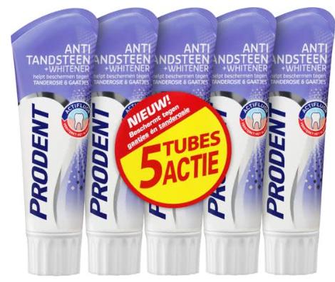 Prodent Anti-Tandsteen - 5 x 75 voordeelverpakking voor €3,84