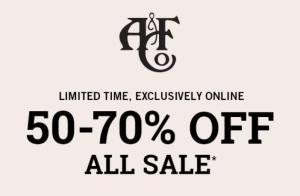 Abercrombie & Fitch sale tot 70% extra korting op de sale