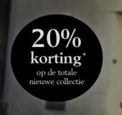 20% korting op de nieuwe collectie