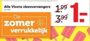 Alle Vivera vleesvervangers voor €1