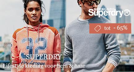 Tot 65% korting op Superdry + €10 korting dmv code