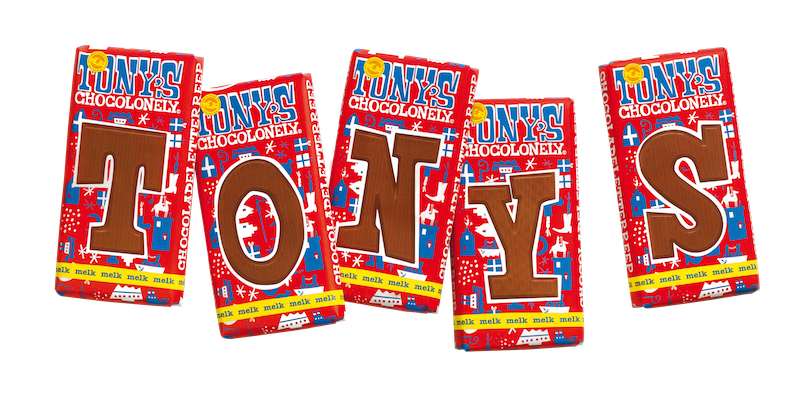 Tony's Chocolonely Chocoladeletter Reep voor €1,75