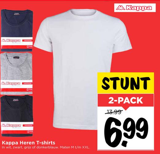 2- Pack Kappa heren t-shirts voor €6,99