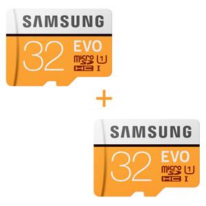 SAMSUNG 32GB MICROSD EVO 95MB/S 2 stuks voor €22,99