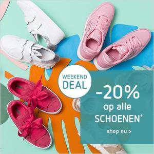 Kleertjes.com sale 20% korting op alle schoenen