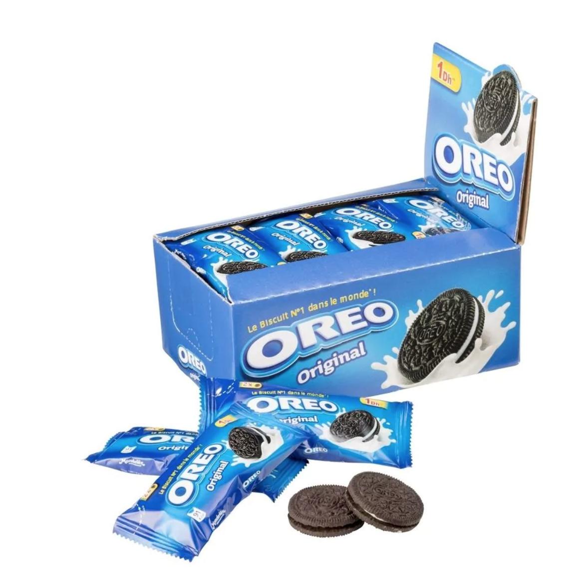 Oreo voordeelpak 24 zakjes met in totaal 456 gram voor €1,99