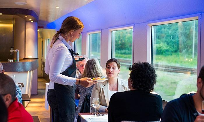 Dinner Train: brunch, lunch of high beer/wine vanaf Amsterdam CS voor €59,99 voor 2 personen
