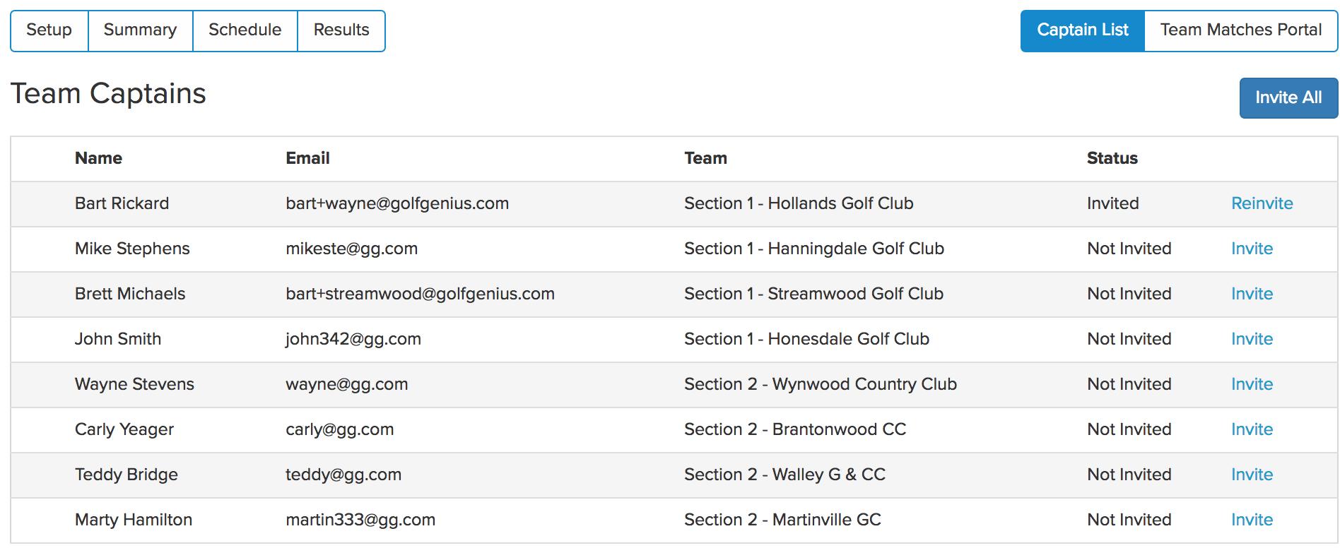 Golfgenius - Team Matches