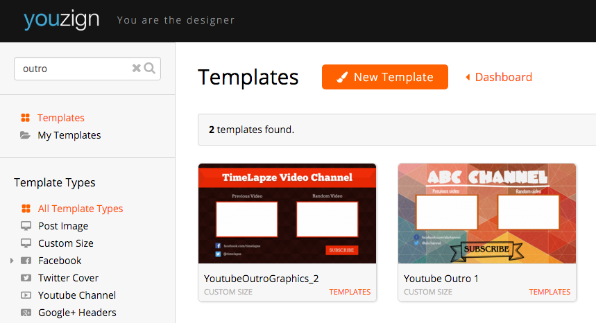 zSuite io - How to create a Youtube Outro graphic
