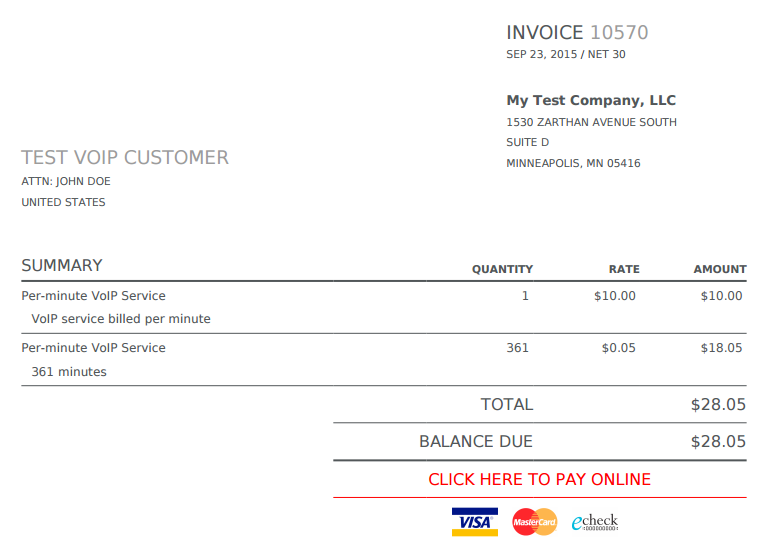 voice over invoice template  ChargeOver - How to set up and use metered/ usage based billing