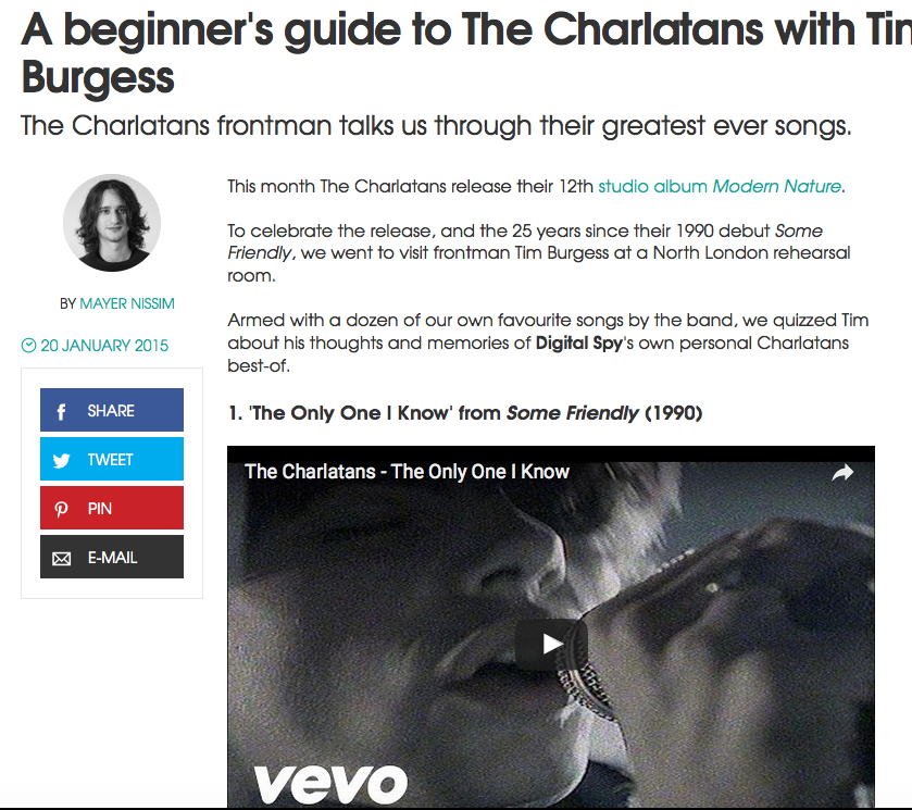 A beginner's guide to The Charlatans with Tim Burgess