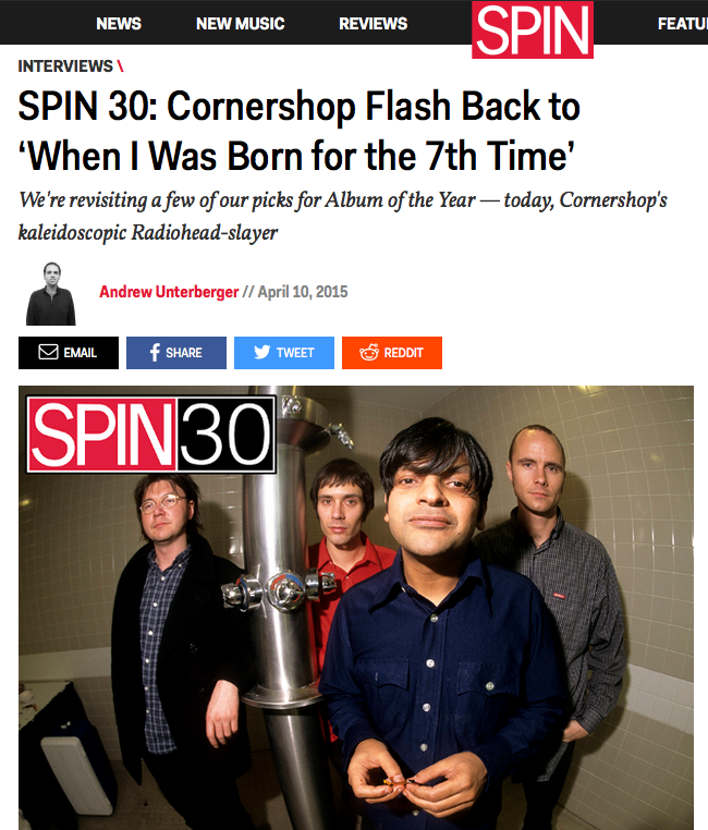 Cornershop Flash Back to 'When I Was Born for the 7th Time'