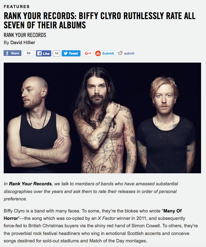Biffy Clyro Ruthlessly Rate All Seven of Their Albums