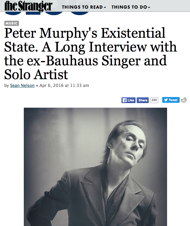 Peter Murphy's Existential State