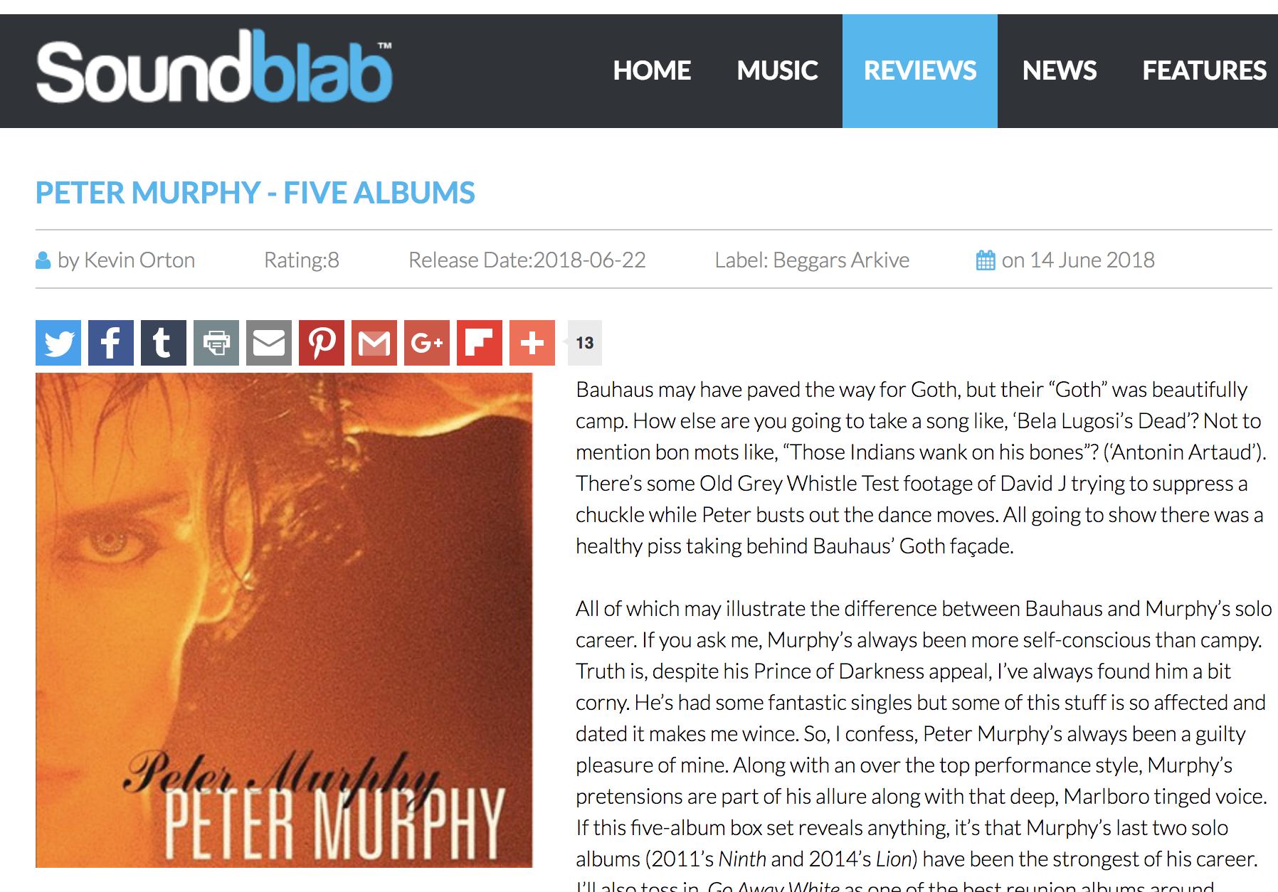 PETER MURPHY - FIVE ALBUMS - 8/10