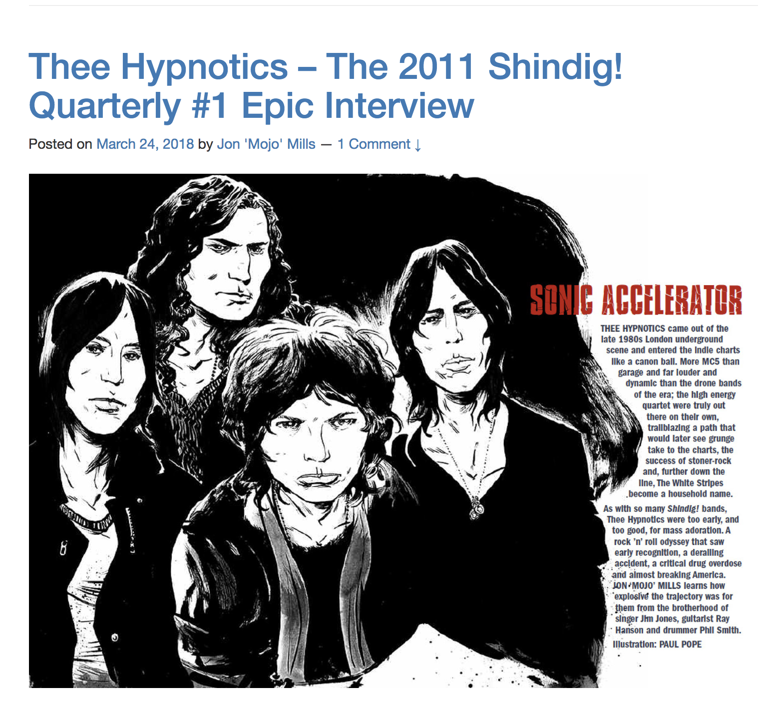 The 2011 Shindig! Quarterly #1 Epic Interview
