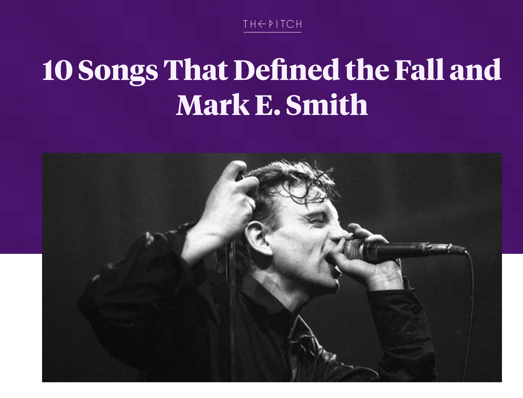 10 Songs That Defined the Fall and Mark E. Smith