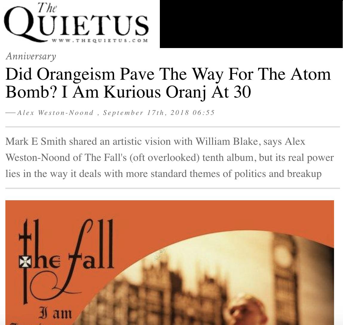 Did Orangeism Pave The Way For The Atom Bomb? I Am Kurious Oranj At 30