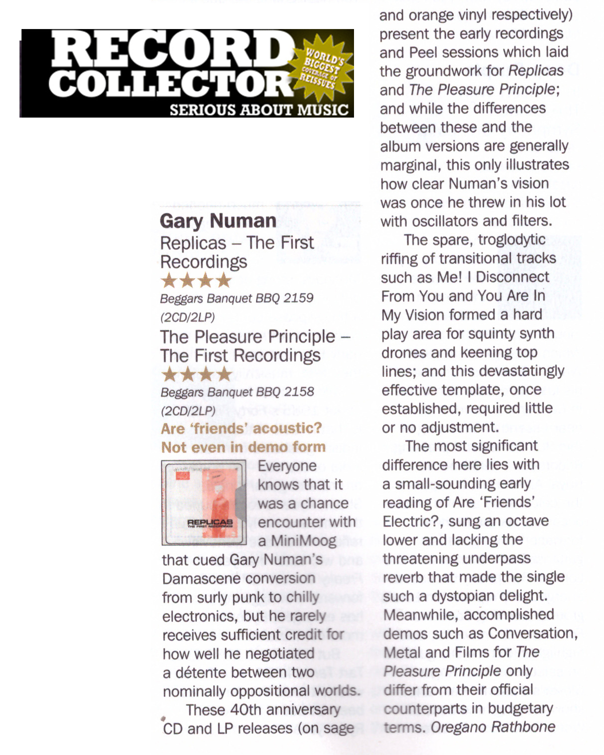 Record Collector reviews The First Recordings releases