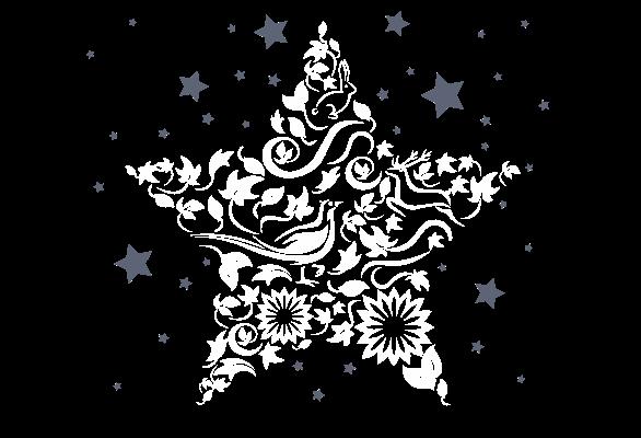 Christmas banner star