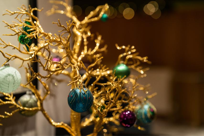 Christmas decor clandeboye lodge 2
