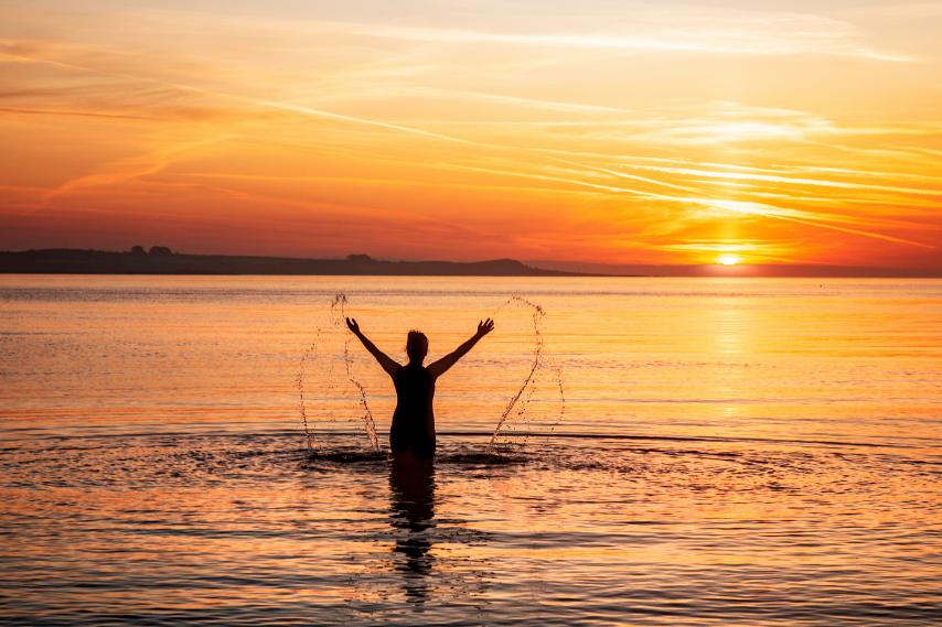 Water Wellness sunset swim