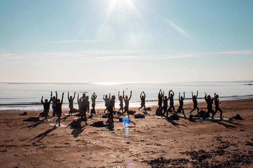 Water wellness yoga