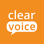 Clear Voice condensed logo