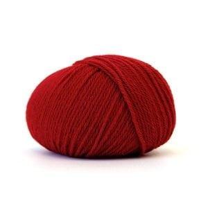 Bluum strikk Stjerne-genser dame Rubinød XL