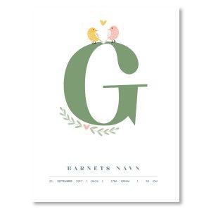 Navneplakat G
